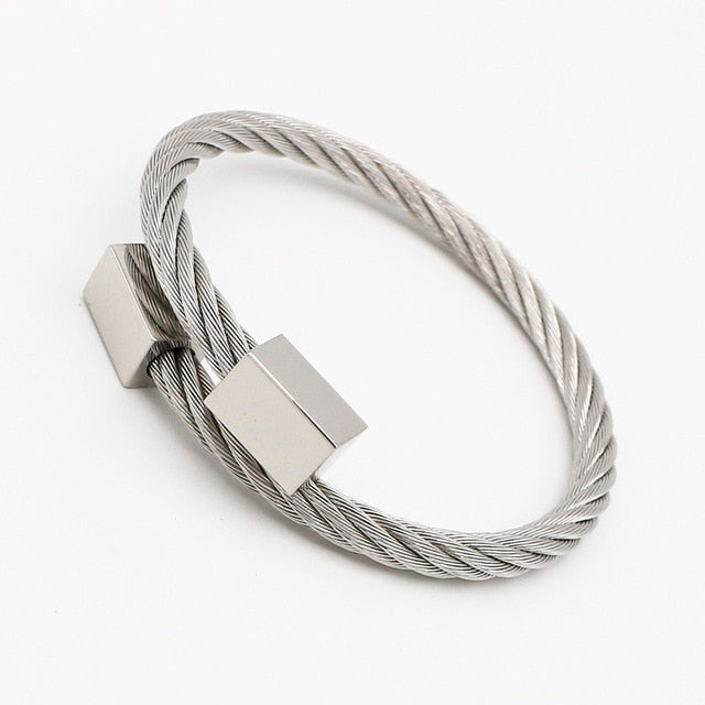 Trendy Roman Stainless Steel Men Bracelets