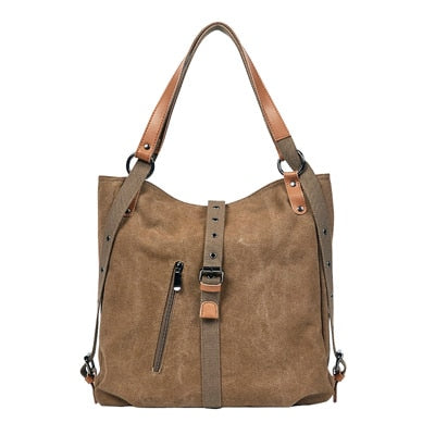 Large Capacity Leisure Canvas Tote Shoulder Bag For Women
