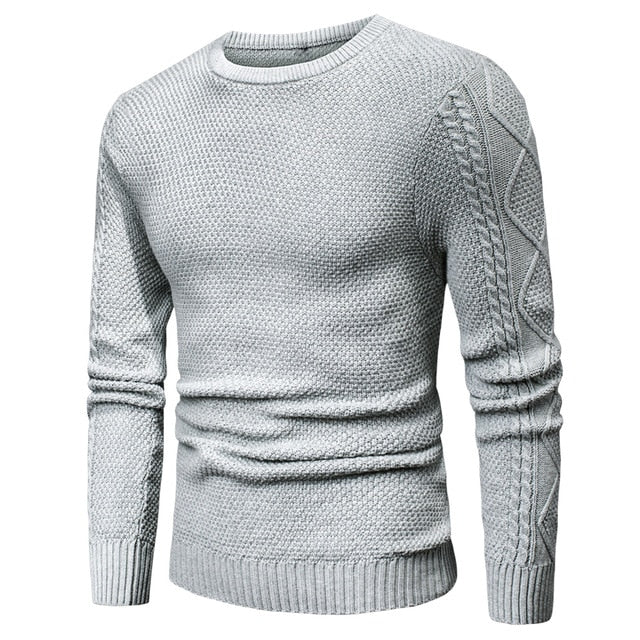 Warm Geometric Soft Cotton Men's Pullover