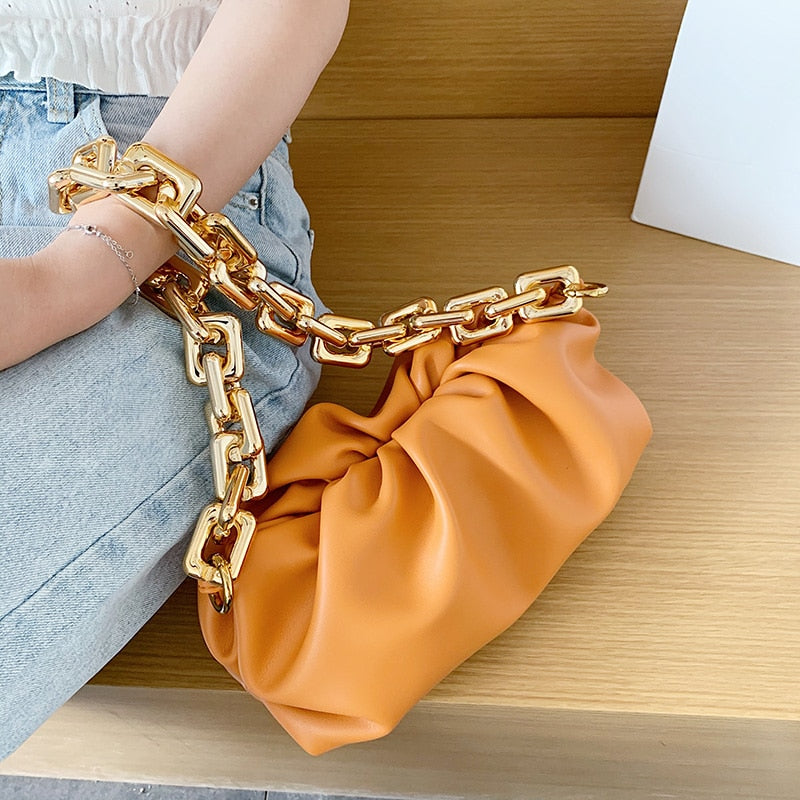 Single Shoulder Soft Leather Hobos Crossbody For Women