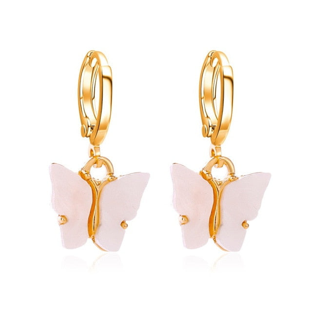 Bohemia Cute Butterfly Small Stud Earrings & Necklace