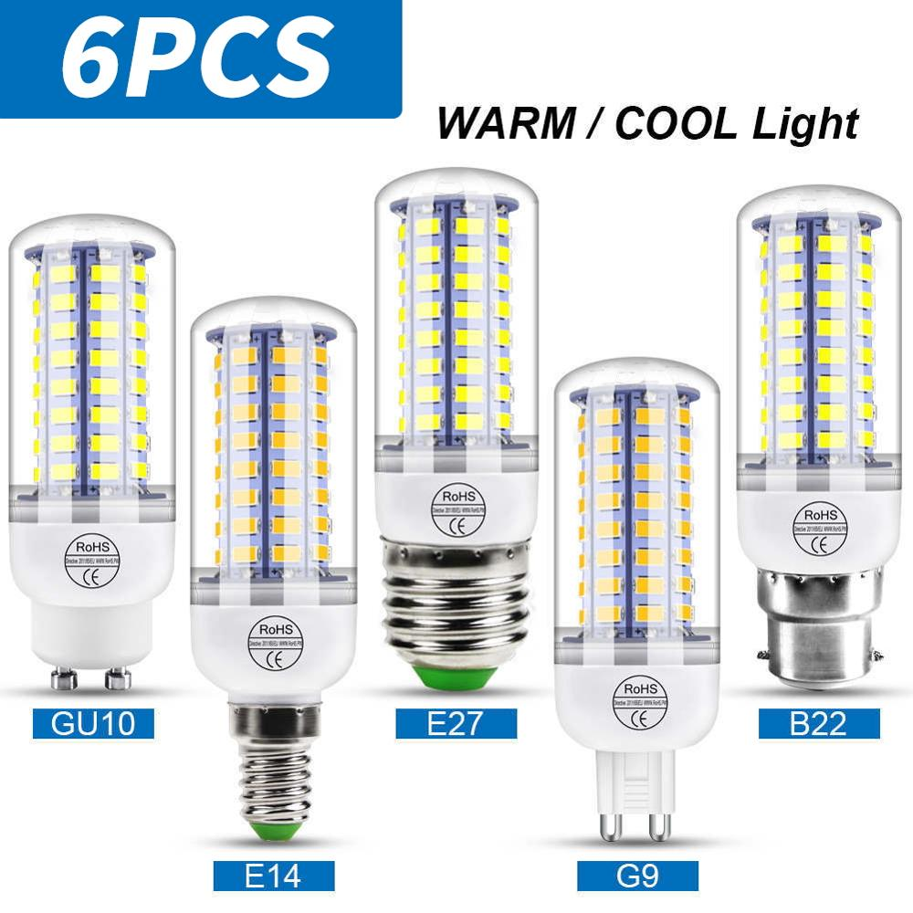 220V Energy-Saving E27/B22/G9/GU10/E14 LED Lamp