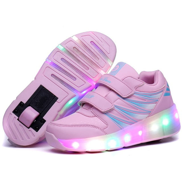 Unisex Breathable LED Glowing Roller Shoes