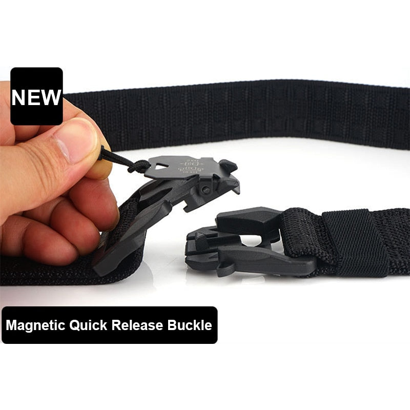 Quick Release Magnetic Genuine Tactical Belt For Men