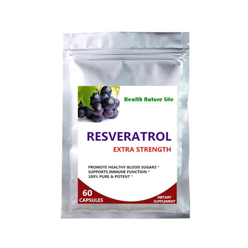Resveratrol 30 Day Supply Anti-oxidant & Quench Free-radicals