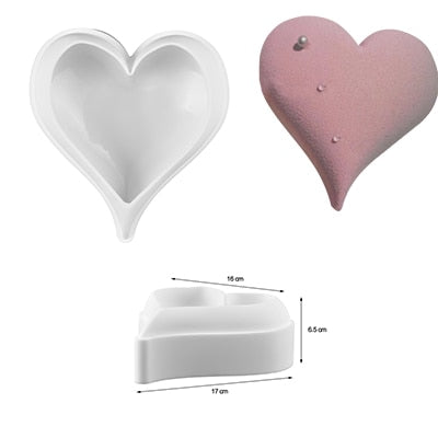 DIY 3D Rose/Heart Silicone Cake Molds