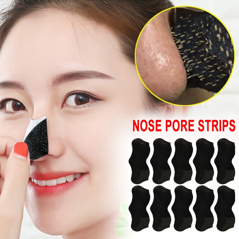 Bamboo Charcoal Blackhead Remover & Nose Pore Deep Clean Strip