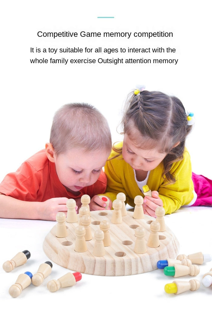 Funny Wooden Memory Match Stick Chess For Kids