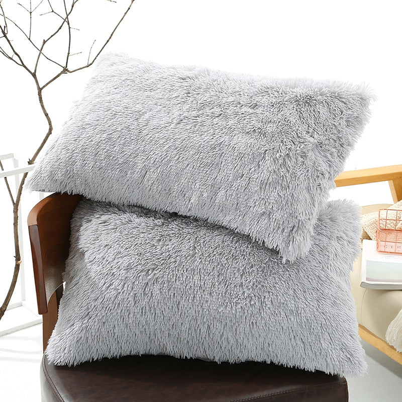 50x70cm Warm Fluffy Plush Pillow Case