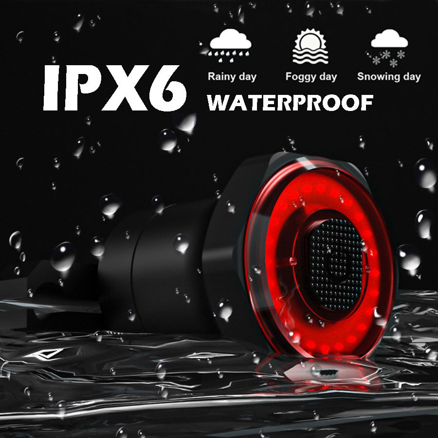IPX6 Waterproof USB Charge Auto Start Stop Brake Smart Bicycle Rear Light