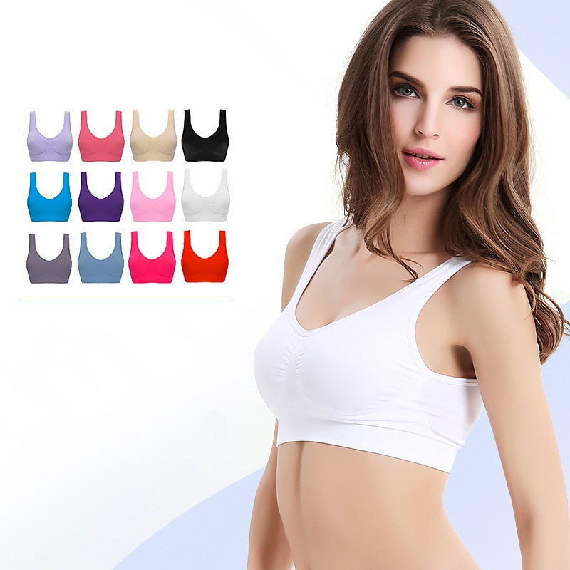 Wireless Seamless Push-Up Solid Cotton Bras For Women
