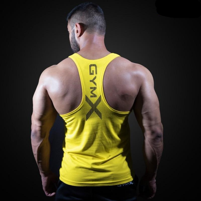 Sleeveless Sling Tight Cotton Bodybuilding Men's Tank Tops