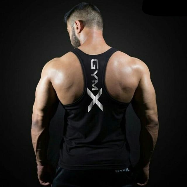 Sleeveless Sling Tight Cotton Bodybuilding Men's Black Tank Tops