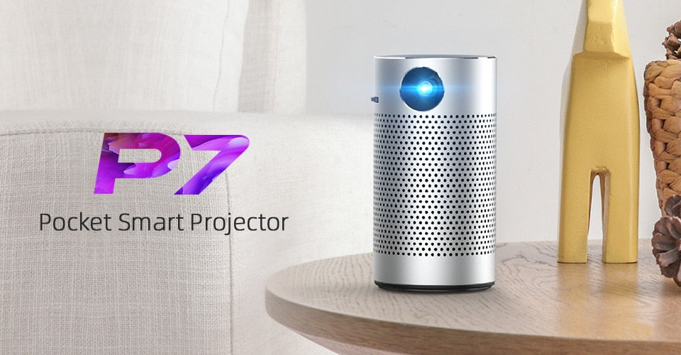 P7 Portable Pico Smart Android Wifi 1080P 4K TV 3D Mini Home Projector