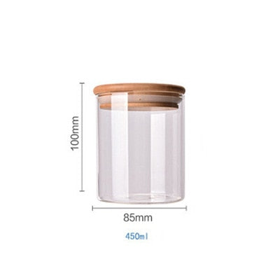 Bamboo Covered Food Container & Kitchen Storage Box