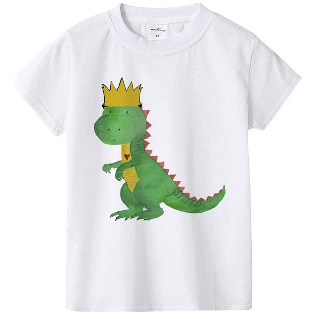 Young & Wild Dinosaur Birthday Boys T-Shirt