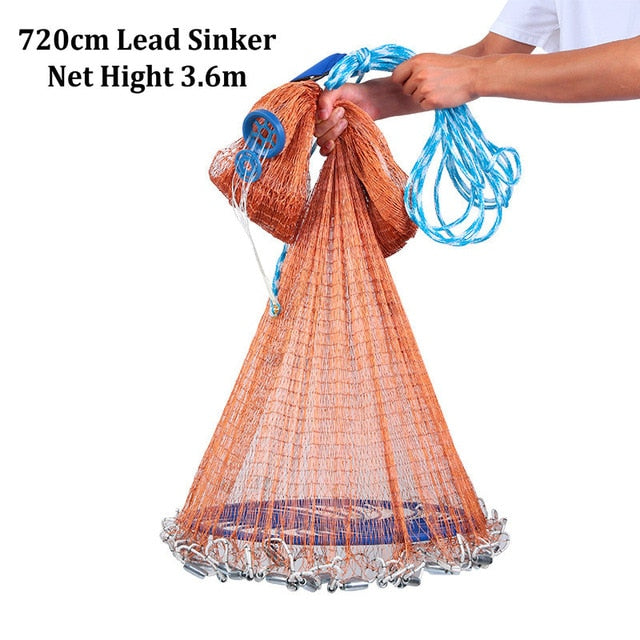 Hand Cast Net With High Strength Flying Disc Cast Fishing Network