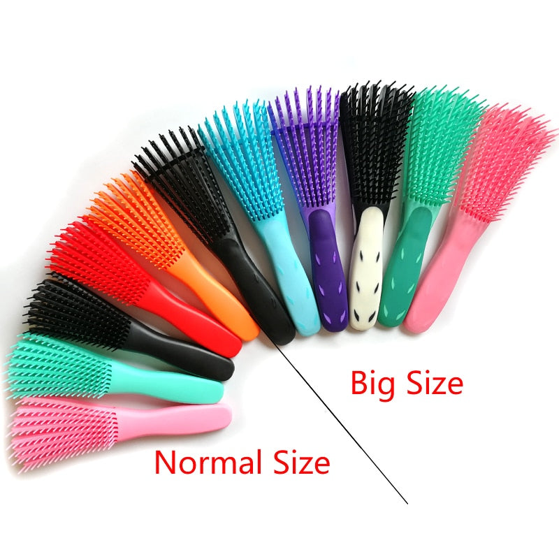 Flexible Scalp Massage Plastic Hair Brush