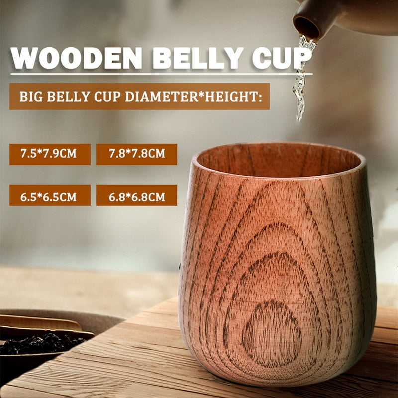 Handmade Natural Wooden Drink Cups