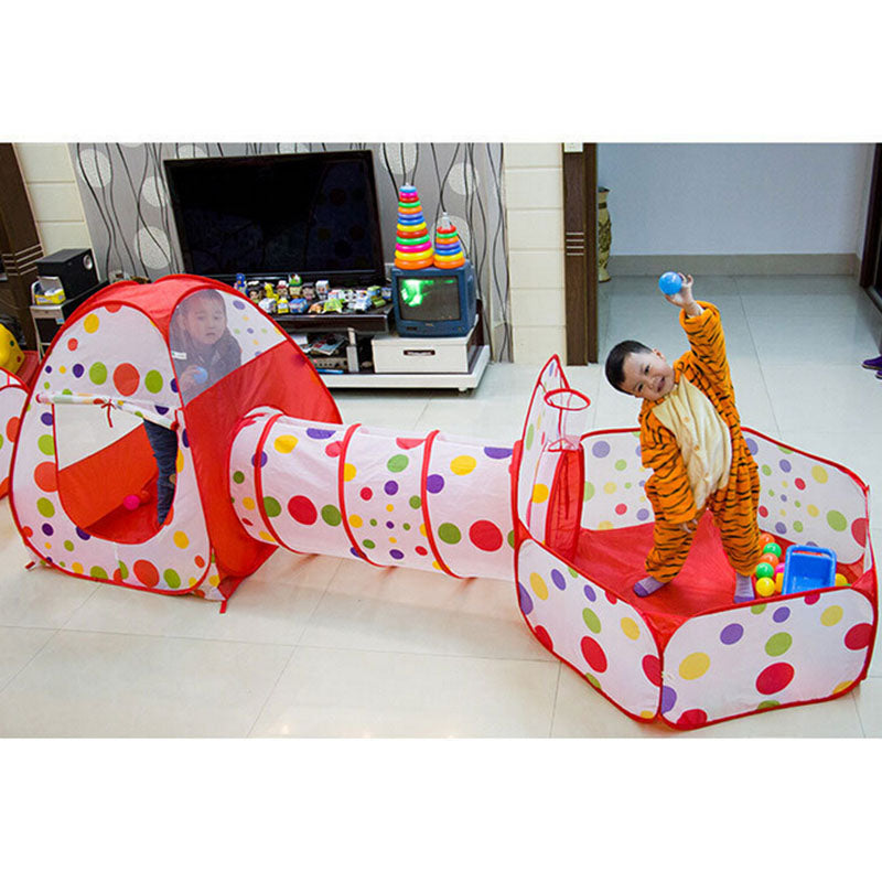 Foldable 3 In 1 Ball Pool Play Tent For Children