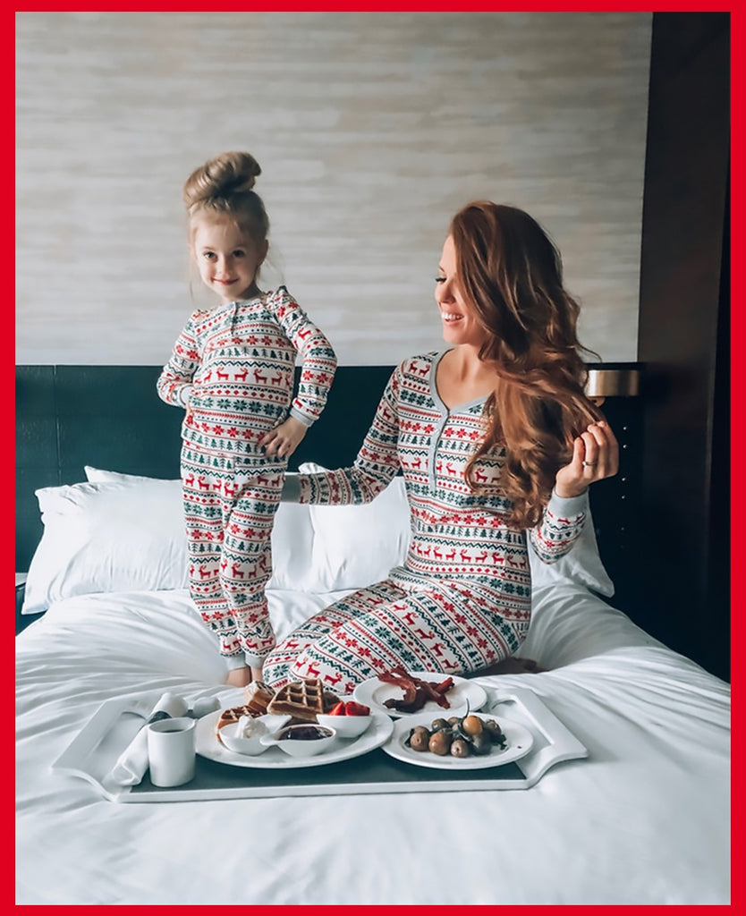 Cool Moose Printed Family Matching Pajamas