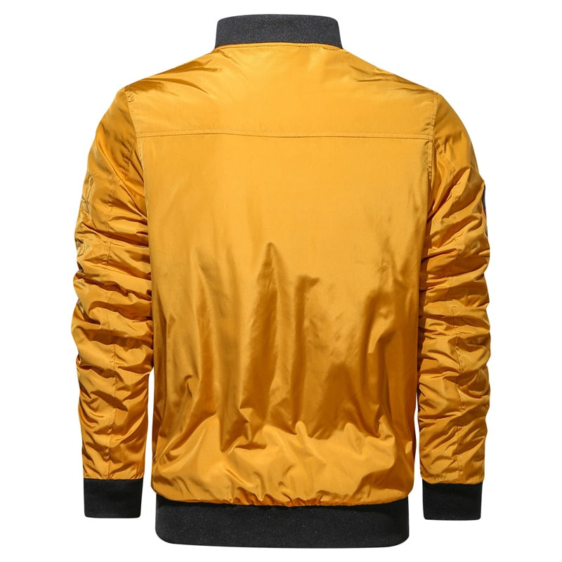 Casual O-Neck Thick Windbreaker Cargo Men's Bomber Jacket