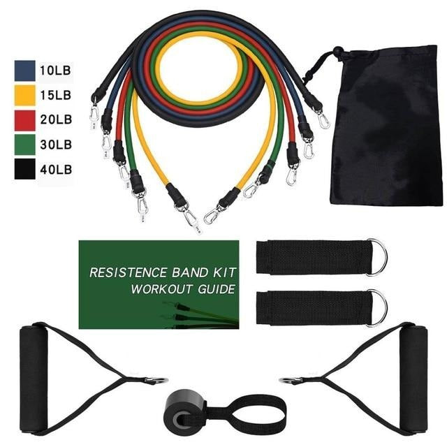 Elastic Resistance Fitness Rubber Bands Set