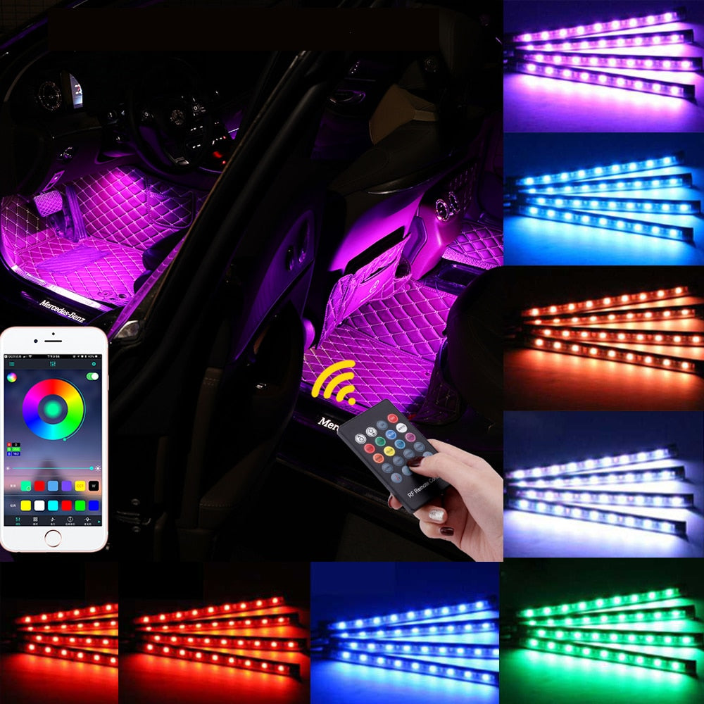 Car Interior Atmosphere RGB LED Light Strip