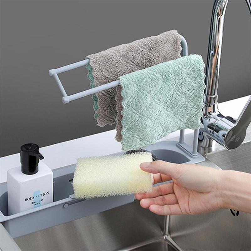 Telescopic Sink Storage Drain Rack