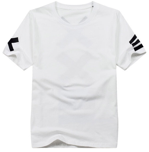 Short Sleeve Bandana Print Hip Hop Men's White T-Shirt