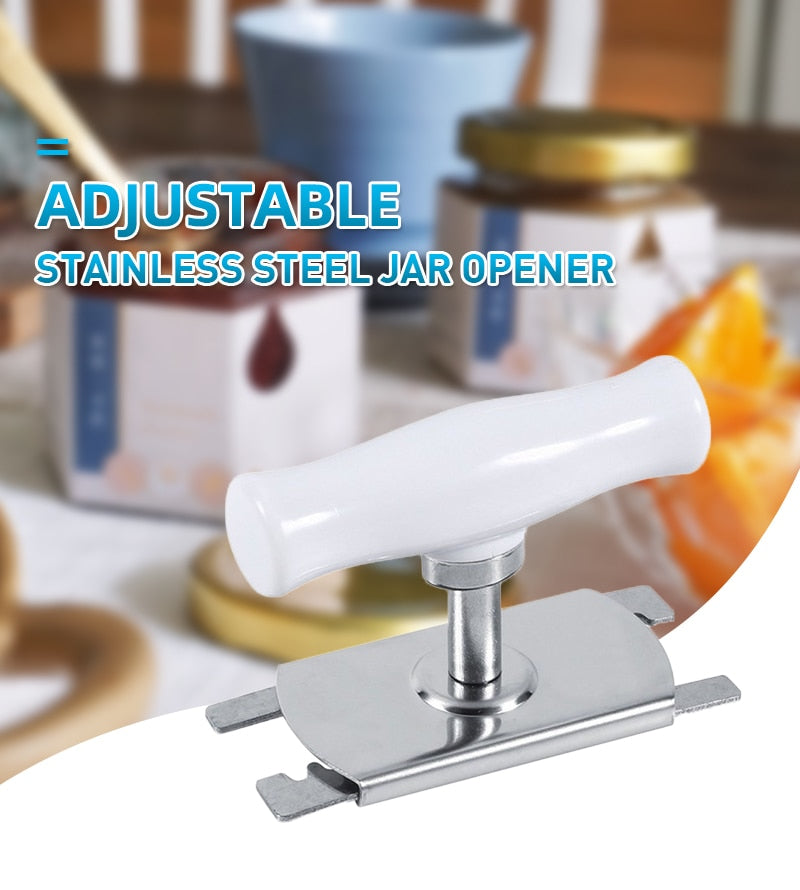 Adjustable Manual Stainless Steel Easy Jar Opener