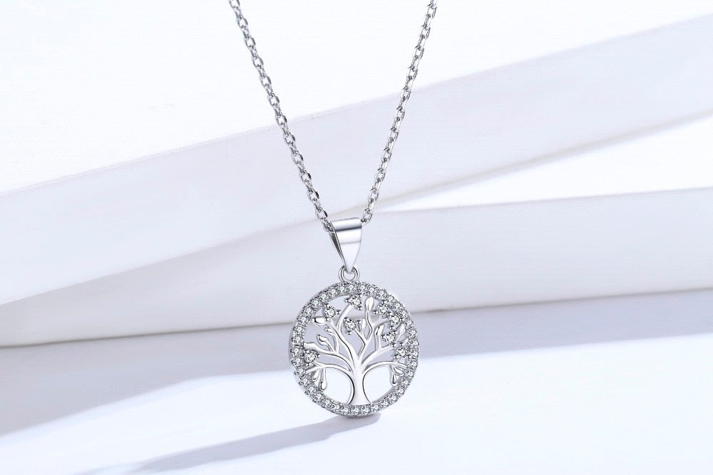 Authentic 925 Sterling Silver Life Tree Necklace For Women