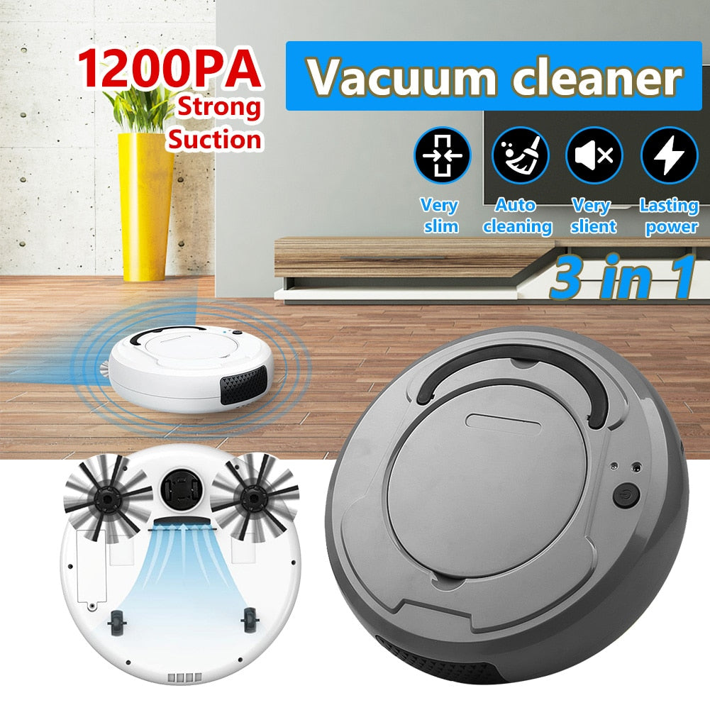 3-In-1 Multifunctional Rechargeable Smart Robot Floor Cleaner