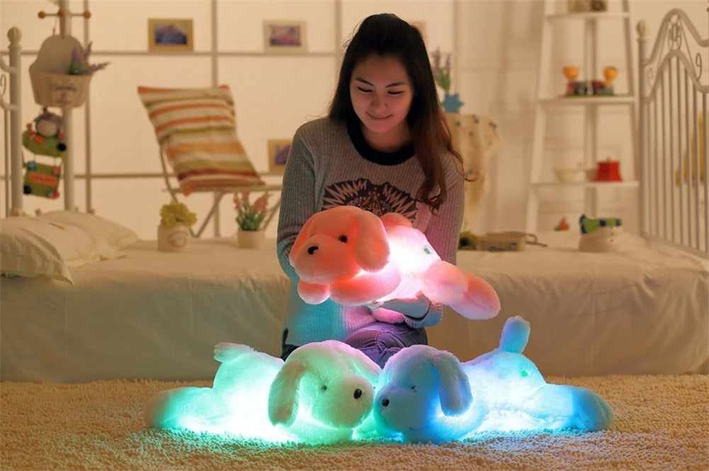 Luminous Colorful LED Light Plush Stuffed Animal