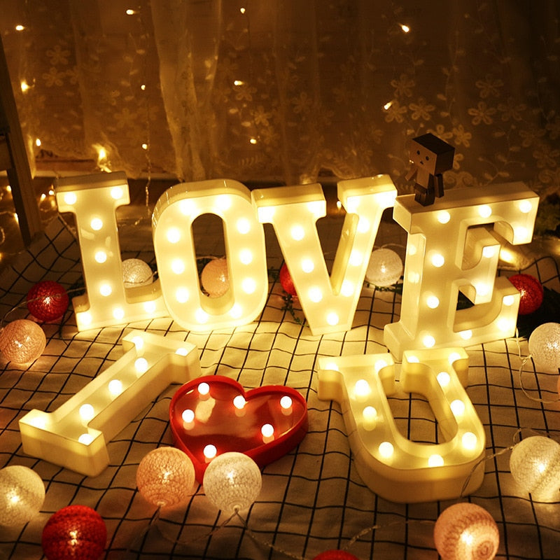 Alphabet Letter & Marquee Sign Number LED Lights