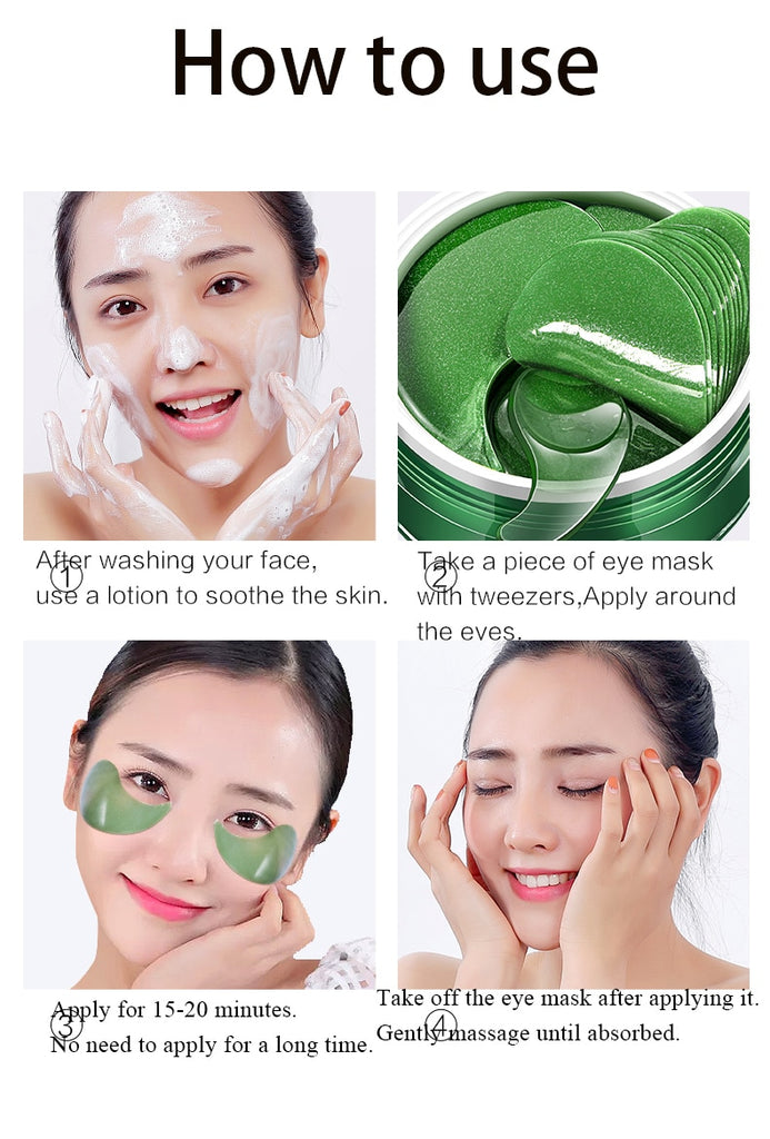 Reduce Dark Circles Deep Sea Collagen Crystal Eye Patches