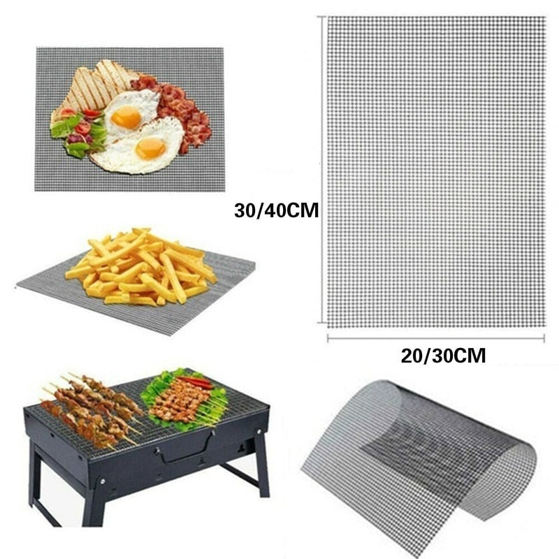 Reusable Non-stick Heat Resistance Barbecue Mesh Mat