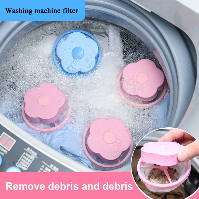 Filter Mesh Pouch Hair Removal Catcher Cleaning Balls