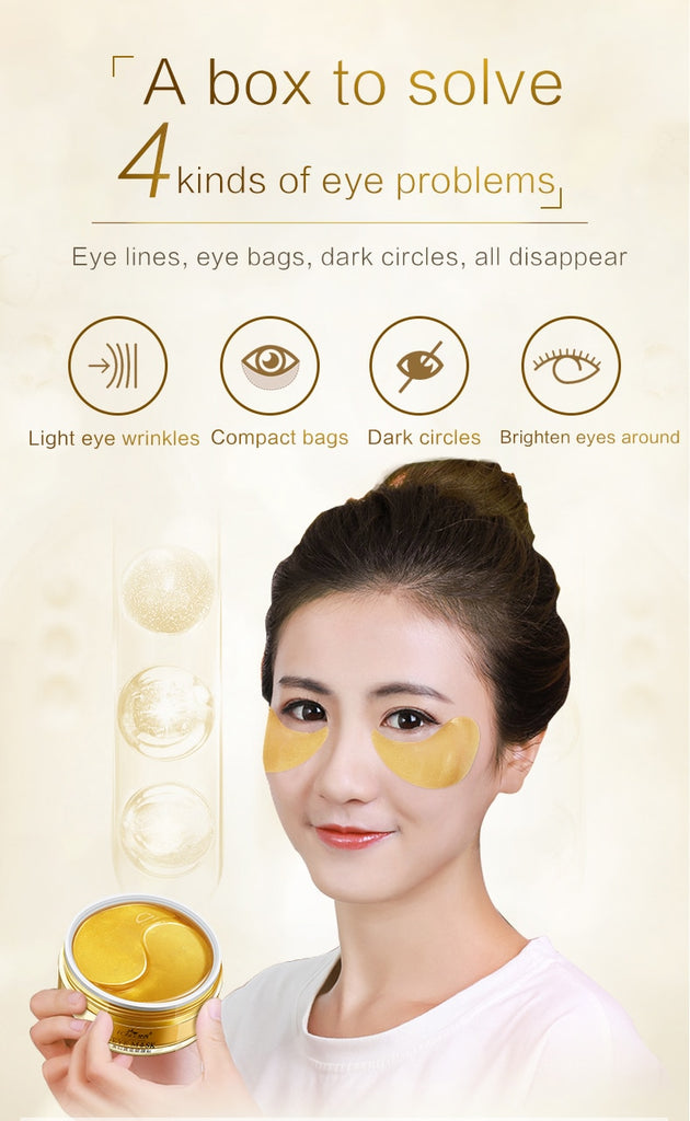 Remover Wrinkle & Anti Age 24K Gold Crystal Collagen Eye Patches