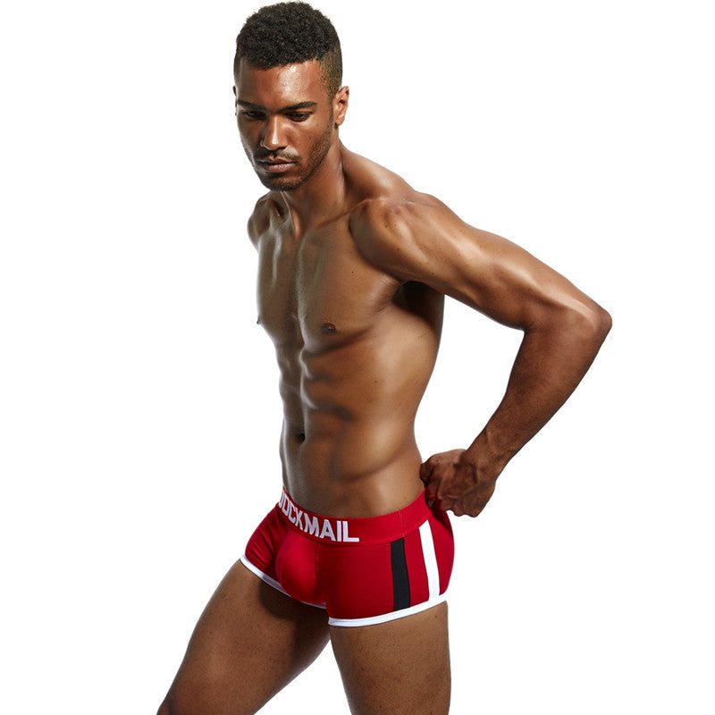 Front Buldge Men Boxer Shorts With Push-up Cup