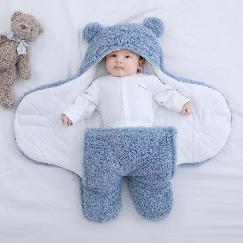 Ultra-Soft Fluffy Fleece Wrap Baby Sleeping Bag