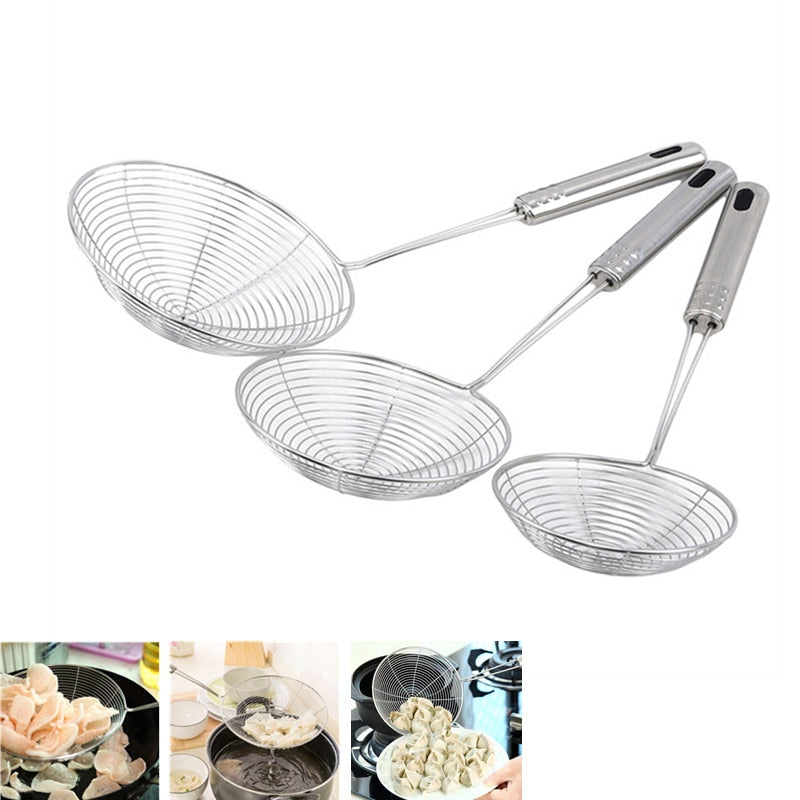 Oval Skimmer Strainer & Stainless Steel Filter Oil Colander