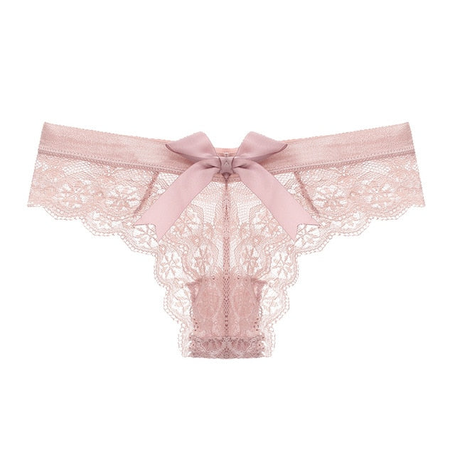 Amazing Low Waist T-Back Bow Lace Women's Thong