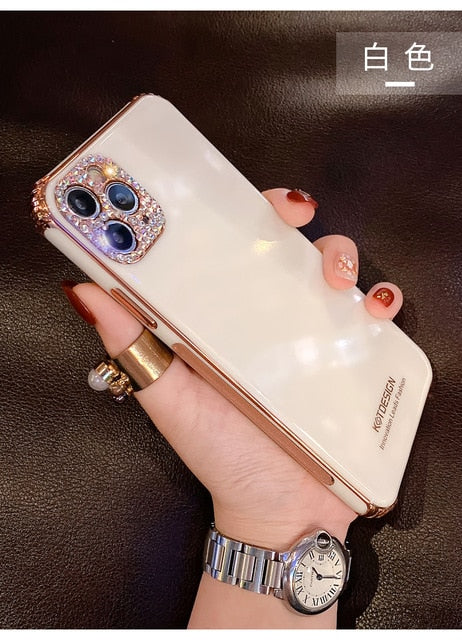 Rhinestone Sparkling Electroplated Phone Cases For iPhone & HUAWEI Series
