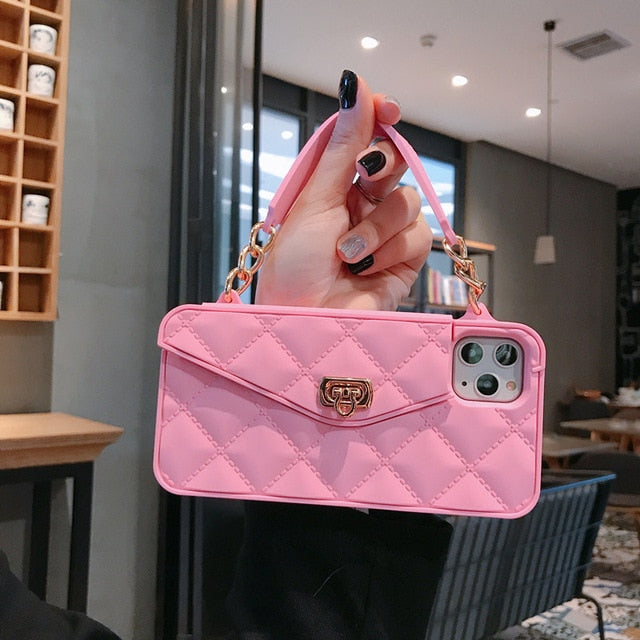 Portable Pink Phone Wallet Case For iPhone Devices & P30 40 Mate 30 With Fox Hairball