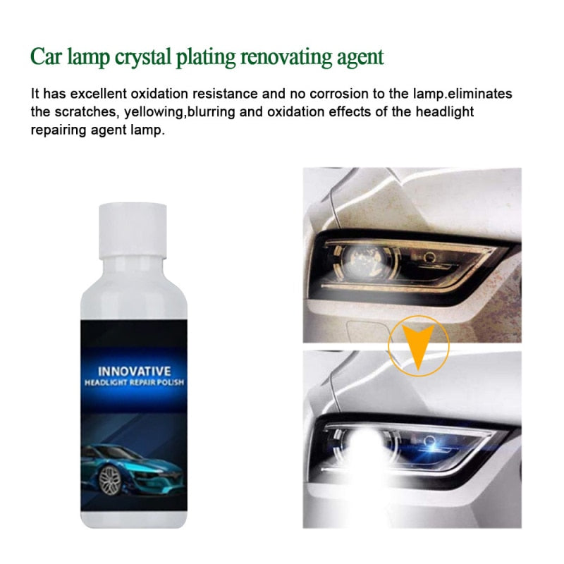 Light Scratch & Oxidation Remover Car Headlight Repair Fluid Agent