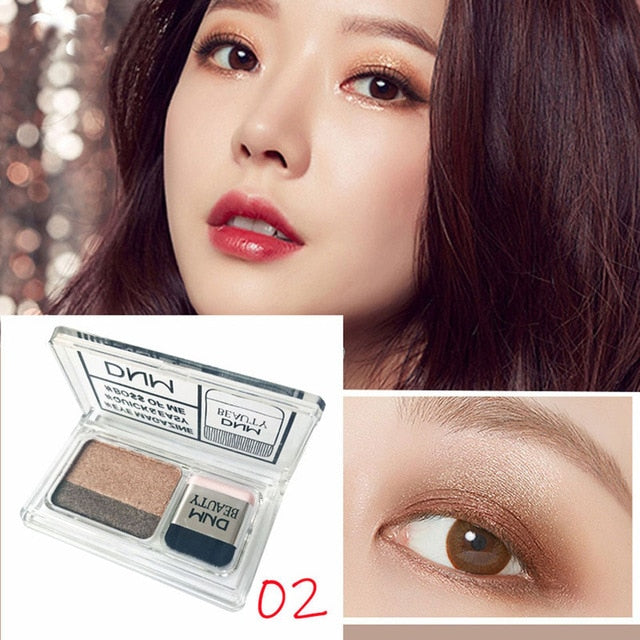 Waterproof Double Color Gradient Glitter Eye Shadow Palette