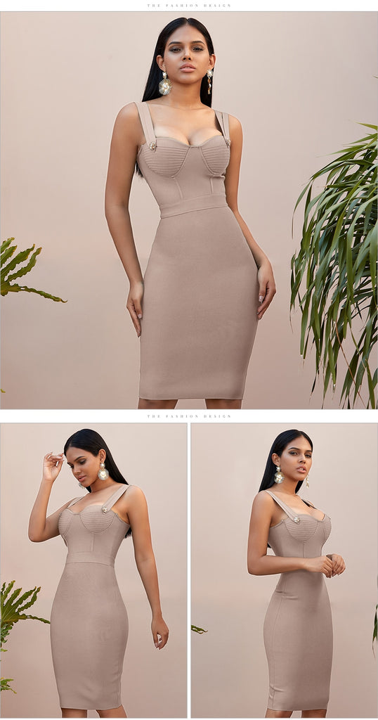 Spaghetti Strap Bandage Party Mini Dress