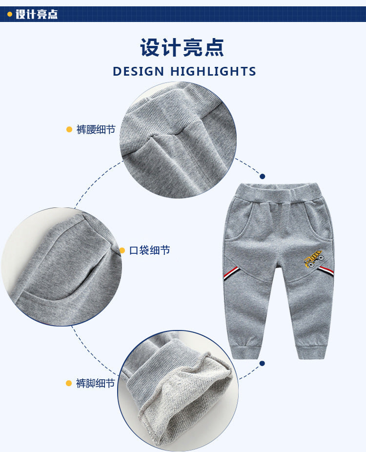 3-8Yrs Comfortable Soft Warm Boys Pants