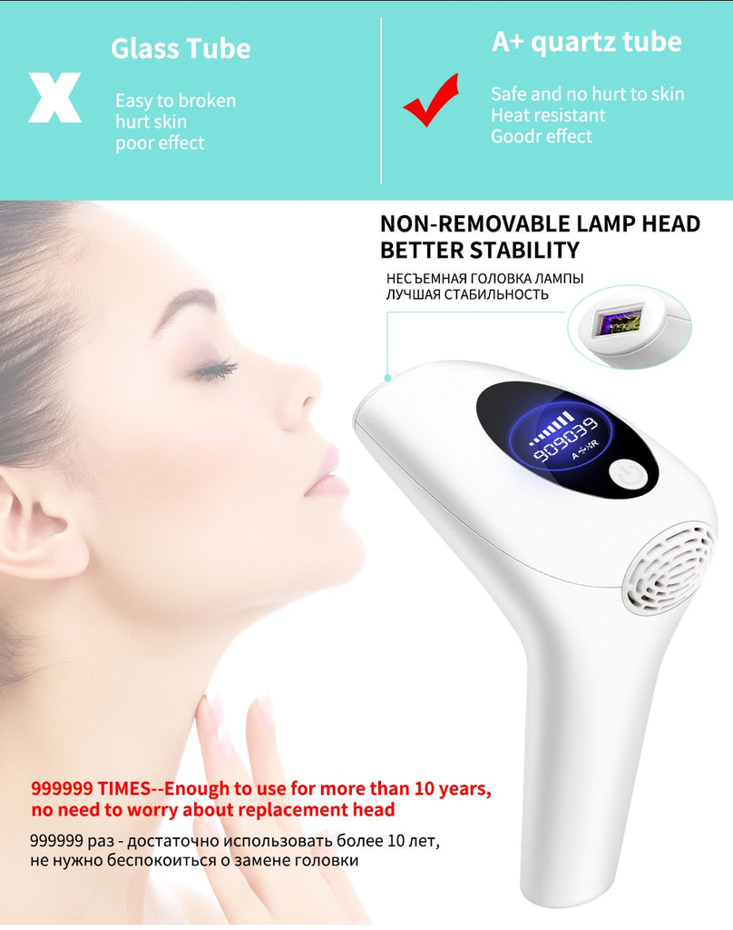 Permanent Painless 900000 Flashes Electric Laser Epilator